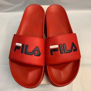 Fila Mens Drifter Red Slip On Sandals SIZE 12